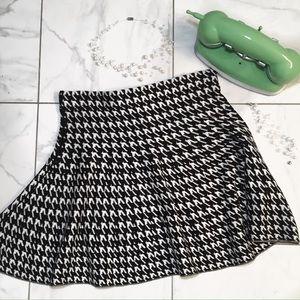 Houndstooth Skater Skirt